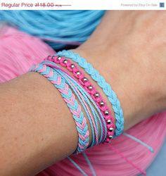 macrame and braid bracelets