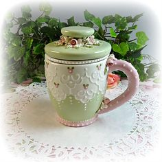 Your mug or cup is a personal item that says a lot about the owner. Here you'll find mugs and cups that show your romantic, feminine and whimsical side. Show off how special you are.