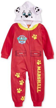 a866fdc1d Paw Patrol Toddler Boys 1-Pc. Hooded Pajamas Paw Patrol Onesie, Paw Patrol