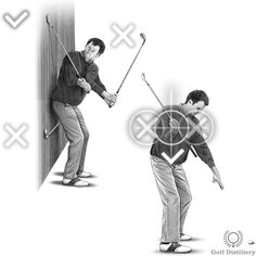 Golf Backswing - How to Correctly Perform your Backswing (Golf Swing) Ben Hogan Golf Swing, Golf Backswing, Behind The Lines, Golf Range, Golf Exercises, Best Positions, Golf Lessons, Drills, Golf Tips