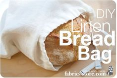 Plastic Free Tuesday Tip: Use a linen bag for bread or produce at the grocery store! An easy plastic free DIY project is to sew one yourself out or old clothes or fresh linen fabric! Sewing Projects For Beginners, Sewing Tutorials, Sewing Crafts, Sewing Patterns, Sewing Ideas, Bags Sewing, Bag Tutorials, Sewing Stitches, Sewing Diy