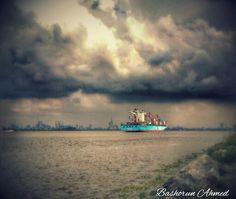 #NaturePhotography #Ship #Containers #Sea #Rocks #Apapa Eko Atlantic #Lagos #Nigeria