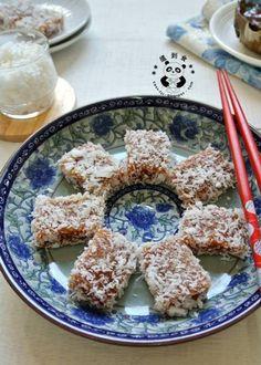 **+搵到食+**:+椰丝蒸年糕+Shredded+Coconut+Steamed+Glutinous+Rice+Cake...