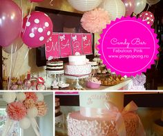 Idei inspiratie pentru un candy bar de basm! Bar, Candy, Pink, Candles, Roses, Candy Bars