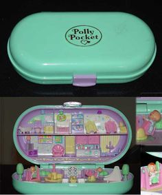 Back when Polly actually fit in your pocket. And no one had to tell us, Dont choke on Polly Pocket, because we werent stupid enough to eat her. Nostalgia at it's finest, I had this Polly Pocket. 90s Childhood, My Childhood Memories, Back In My Day, I Remember When, Ol Days, The Good Old Days, Vintage Toys, The Past, My Love