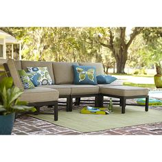 Exceptional RST Outdoor Cannes 6 Piece Patio Sectional Seating Set With Slate Grey  Cushions OP PESS6 CNS SLT K At The Home Depot | Porch Furniture | Pinterest  | Home, ...