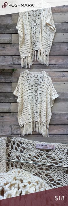 Blue Pepper vintage collection Knit Tunic Poncho awesome preloved condition. Fun, boho vibe. One size fits most. From their vintage collection. Blu Pepper Sweaters Shrugs & Ponchos