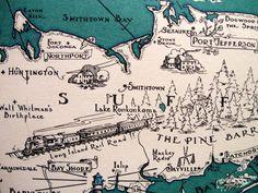 Huntington, NY my second home. Map Long Island, Long Island Sound, Huntington New York, Grateful Dead, Cartography, North Shore, Travel Usa, Wander, Nyc