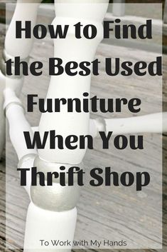 How to Thrift Shop Like a PRO – The Used Furniture Hack When you find the best furniture in your thrift shopping trips, you have the potential for a fantastic upcycle! Here's the tips you need to find those best pieces. Upcycled Furniture, Furniture Projects, Furniture Makeover, Cool Furniture, Furniture Styles, Diy Projects, Thrift Store Shopping, Thrift Store Finds, Shopping Hacks