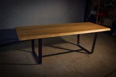 MODERN INDUSTRIAL TABLE Bold Old Oak Table by HardmanDesignBuild