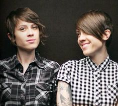 Tegan and Sara..Openly gay identical twins, Tegan and Sara have been rocking the indie music scene since 1995. Both sisters write songs and play the guitar and keyboard. I'm sure you've sang along to their infectious Back in Your Head or Walking Like a Ghost. They just released their live album, Get Along. @Tegan Mierle and Sara