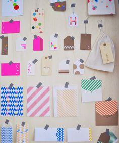 Papier, cadeaukaartjes, enveloppen, tape