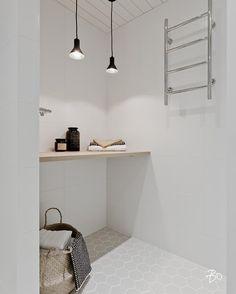 Bo LKV, Turku (@bolkv.fi) Hieno lattia! Tropical Interior, Modern Interior, Interior Design, Laundry Room Bathroom, Bathroom Toilets, Dream Bathrooms, Beautiful Bathrooms, Laundry Room Inspiration, House Rooms