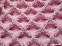 Layered Shirred Knitting Model Making - Knitting with machine knitting - crochet patterns Baby Knitting Patterns, Knitting Stiches, Knitting Charts, Lace Knitting, Knitting Designs, Knitting Needles, Stitch Patterns, Crochet Patterns, Crochet Motifs
