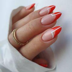 Natural Nail Designs, Short Nail Designs, Nail Art Designs, Gem Nails, Hair And Nails, Almond Nails Designs, Nails Only, Fire Nails, Minimalist Nails