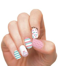 Cup Cake Party Nails