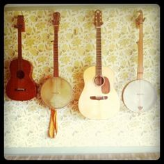 I'm going to learn banjo, and my man will play his guitar and it will be sweet sweet music.  At least to our ears.