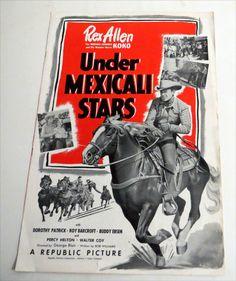 Vintage 1950 Rex Allen UNDER MEXICALI STARS PRESSBOOK Western Buddy Ebsen