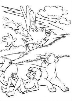Dibujos para Colorear El Libro de la Selva 25