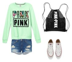 """""""PINK"""" by isabellal23 on Polyvore featuring rag & bone, Victoria's Secret, Converse, women's clothing, women, female, woman, misses and juniors"""