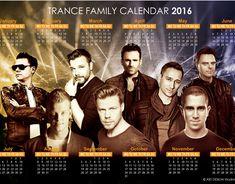 Trance Family Calendar 2016 on Behance Family Calendar, 2016 Calendar, Trance, Trance Music