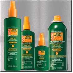 Deet Free Bug Guard with SPF  comes in pump, spray and now jumbo and travel sizes