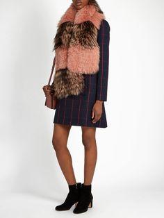 Bi-colour fox-fur scarf | Fendi | MATCHESFASHION.COM UK