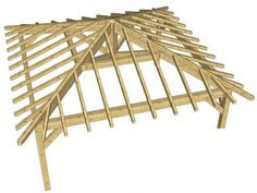 Resultado de imagen para techos metalicos a 4 aguas ., Resultado de imagen para techos metalicos a 4 aguas . ard claddings are made of synthetic materials since they provide an insulation of sorts to a portion of the house. Claddings are . Wood Pergola Kits, Timber Pergola, Black Pergola, Patio Roof, Pergola Patio, Corner Pergola, Backyard Patio, Gazebo Plans, Gazebo Ideas