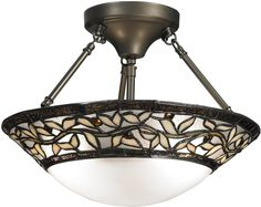 Cyprus Oaks 2-Light Pendant Dark Bronze