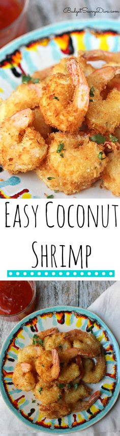 Easy Weekday Dinner Recipe - I made this recipe in under 20 minutes and my family LOVED it! - Easy Coconut Shrimp Recipe