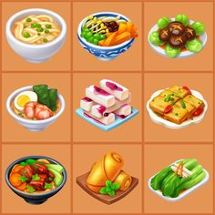 Game Cafe, Casual Art, Food Clipart, Food Cartoon, Food Icons, Food Concept, Game Icon, Cooking Games, Food Drawing