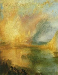 The Burning of the Houses of Lords and Commons, J.M.W. Turner,1834
