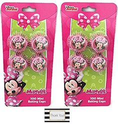 Minnie Mouse Mini Baking Cups  Two Packs of 100 *** Find out more about the great product at the affiliate link Amazon.com on image.
