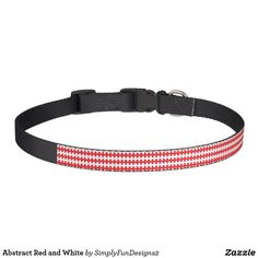 Abstract Red and White Pet Collar