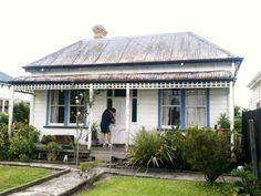 1908 flat fronted villa, removed from section & ready to renovate! Hamilton, New Zealand Beach Cottages, Historic Homes, Country Style, Villas, Colonial, New Zealand, Word Doc, Bungalows, Footprint