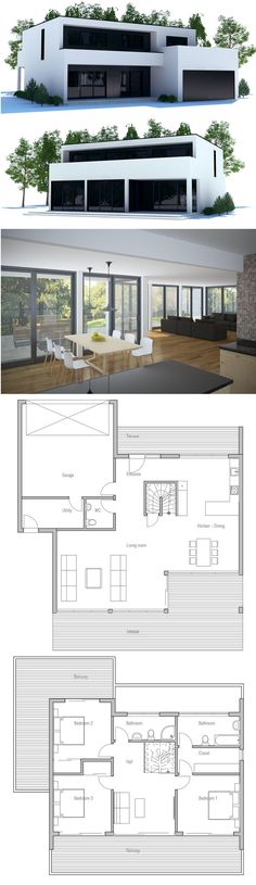 House Plan, Modern Home Plan