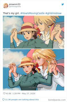 Studio Ghibli Art, Studio Ghibli Movies, Studio Ghibli Characters, 3 Characters, Howl Pendragon, Howl And Sophie, Hayao Miyazaki, Anime Films, Totoro