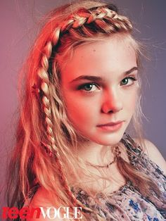 thehairfiles.com  Elle Fanning in braids