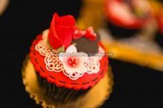 Cupcake Festa Minnie Vermelha da Maria Clara