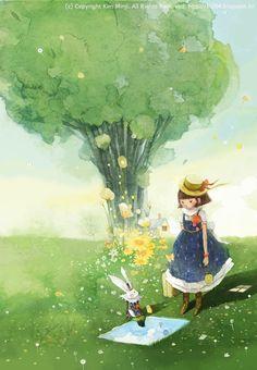 Resultado de imagen para Ilustración de Corea Libro Heidi
