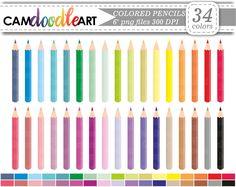 Colored Pencils Clipart, Coloring Pencil, School Clipart, Office Clipart,  Scrapbooking Clipart,