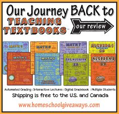 Our Journey BACK to Teaching Textbooks *great post, I agree with why she loves Teaching Textbooks!*