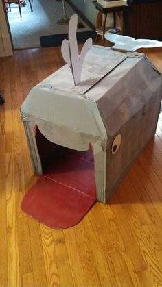 Cardboard whale for Jonah before he went to Ninevah
