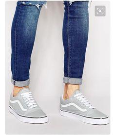 Vans low tops original skate shoes  (grey white)