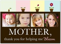 Mothers Day -- love this. Wish my mom were alert enough/healthy enough to appreciate a gift like this.