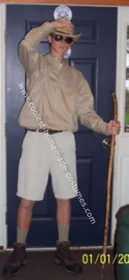 Homemade Safari Tour Guide Costume: For ninth grade school spirit week on extreme weather day, I wanted to stand out in the crowd (besides being 6'4).  Instead of wearing the average rain
