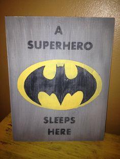 A Superhero Sleeps Here Batman Sign - Womens Batman - Ideas of Womens Batman - A Superhero Sleeps Here Batman Sign