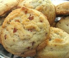 HOMEMADE PECAN SANDIES  2 sticks butter, unsalted (1/2 lb., softened) 1 cup vegetable oil 1 cup sugar, granulated 1 cup confectioner's sugar (sifted) 2 eggs (large) 1 teaspoon vanilla extract 4 cups flour, all purpose (500 gr.) 1 teaspoon baking soda 1 teaspoon cream of tartar 1 teaspoon salt 2 cups pecans (chopped) 1/2 cup sugar, granulated (for decoration)  Preheat oven to 325 degrees F. In a large bowl, cream together the butter, vegetable oil, 1 cup white sugar and confectioners' sugar…