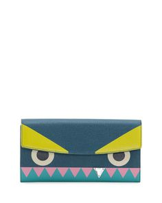 Monster Crystal-Tooth Continental Wallet by Fendi at Neiman Marcus.