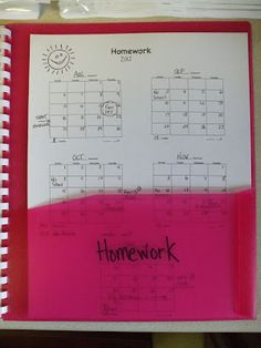 Pocket 8 holds a homework graph.  Students have to color in a box  if they don't return their homework.  Students get a homework grade  on their report card, so I use this for a grade.